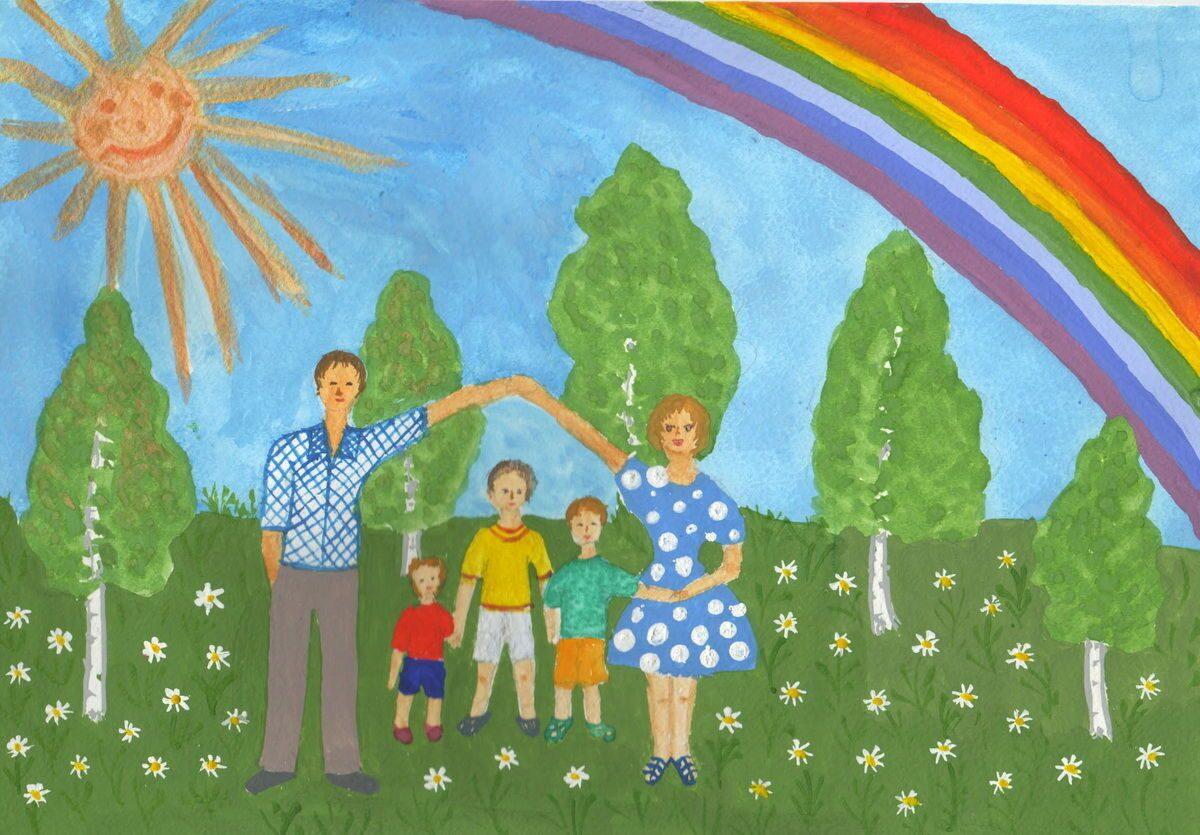 Детский рисунок июнь