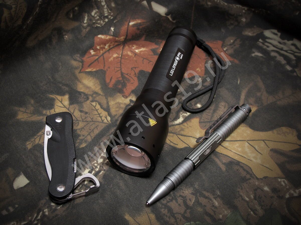 "Фонарь LED Lenser P14 8414 AFS, нож Leatherman 860011N ""Crater"" с33"
